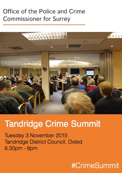 Police & Crime Commissioner holds Crime Summit in Tandridge