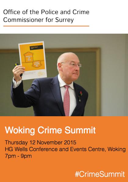 Woking Crime Summit A5