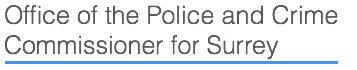 Office of the Police and Crime Commissioner for Surrey Logo