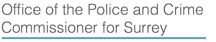 Office of the Police and Crime Commissioner for Surrey Retina Logo