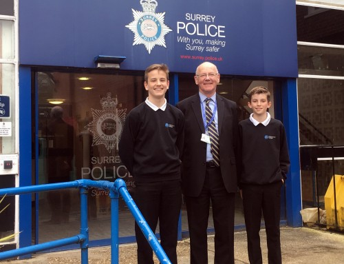 Teenage students present to PCC as part of GCSE coursework