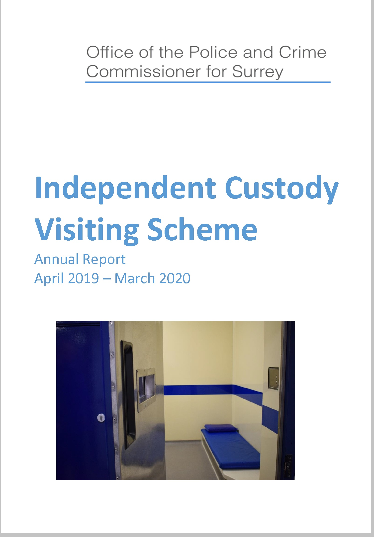 ICV Scheme report